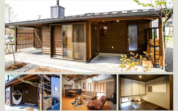 シンプルな平屋に、土間スタイルの広い玄関を設けたラインナップ「未来」。